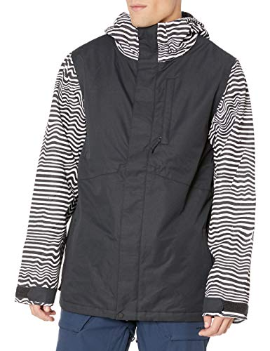Volcom mens 17Fourty Insulated Snowboard Jacket, black Stripe, Medium