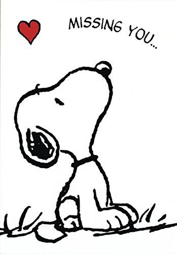 Peanuts Postkarte Snoopy Missing You (10,5cm x 15cm)