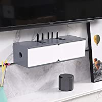 フローティングTVキャビネット、高光沢TVスタンド、ケーブルボックスルーターセットトップボックス用壁掛けメディアセンター6色使用可能/ B / 60x21x16.5cm
