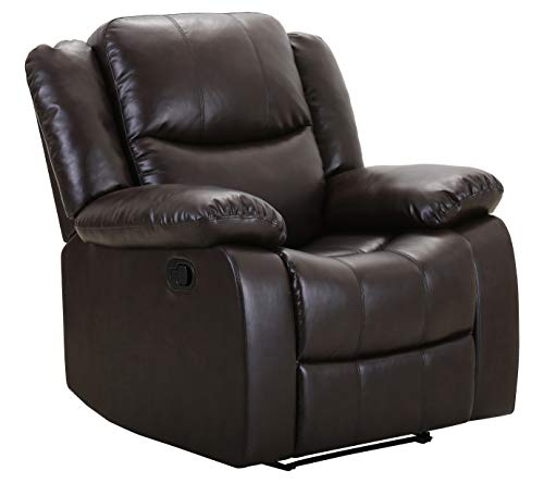 "Amazon Brand – Ravenna Home Recliner Chair, 37""W, Brown"