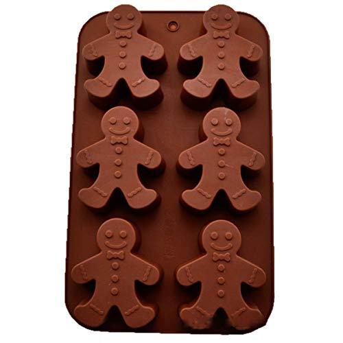 1 Satz mit 6 kleinen Schneemann Lebkuchenmann Schimmel Kuchenform Eiswürfelschale Handgemachte Kekse Silikon Kuchen Backform