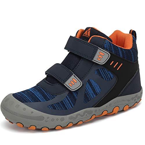 Mishansha Trekking Wanderschuh Kinder High Top Kamfortable Kinderschule rutschfeste Sportschuhe Jungen Hikingschuhe Langlebige Mädchen Sneakers Soft Lauflernschuhe Blau 24 EU