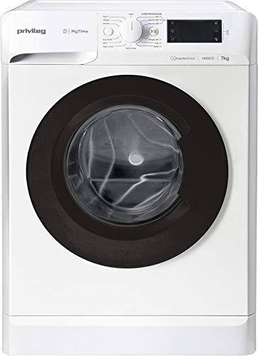 Privileg 869991587400 PWF MT 71483 Waschmaschine Frontlader/A+++/ 1351 UpM/ 7 kg/Startzeitvorwahl/Kurzprogramme/Eco-Motor/Wolle-Programm/Mischwäsche-Programm, Weiss