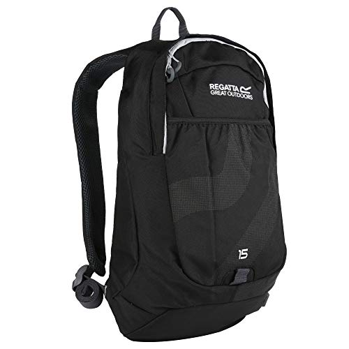 Regatta Bedabase II Hardwearing Comfort Strap Backpack - Black/LIght Steel, 15 Litre