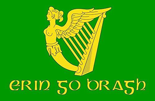 Etaia - 5,4x8,4 cm - Auto Aufkleber Fahne/Flagge von Irland Ireland Forever Europa Länder Sticker Motorrad Handy Laptop