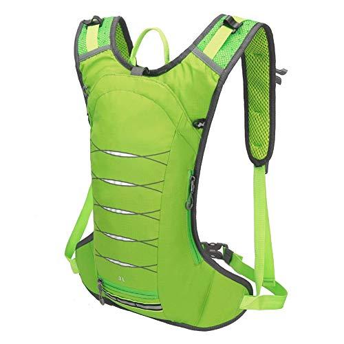 Sac à dos de vélo 3 L ultra léger - Avec système d'hydratation - Pour le cyclisme, la course, le jogging, la randonnée, le camping, l'alpinisme et le marathon - Imperméable