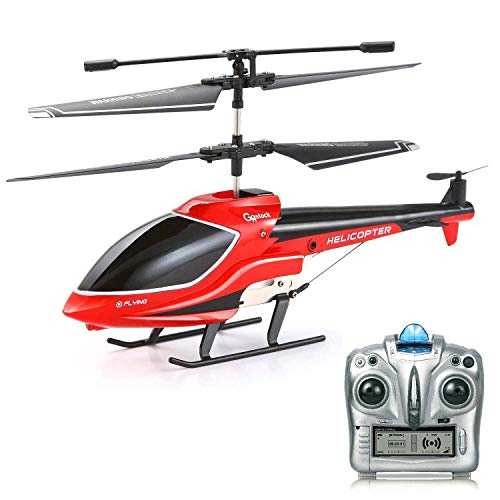 GoStock RC Helicopter Remote Control Helicopter for Kids Indoor/ Outdoor, 3.5 Channel with Gyro and LED Light Anti-Collision Mini Remote Helicopter toy Gift for Boys Kids & Adult