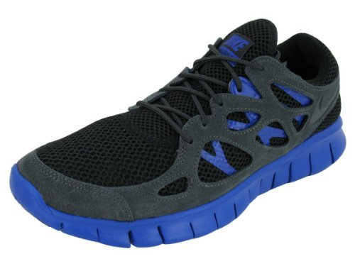 Nike Sneaker Free Run+ 2 EXT Schwarz Black Black Hyper Blue, Größe:40 EU / 6 UK / 7 US / 25 cm
