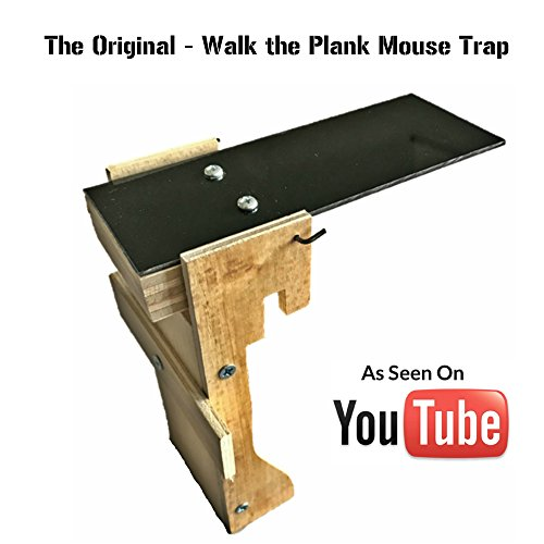 The Original - Walk the Plank Mouse Trap - Exact Trap from YouTube - Handcrafted In The USA - Kill / No Kill Trap For Mice, Rats, Rodents & Other Pests - Humane Non Poison - Best Trap Ever Tested