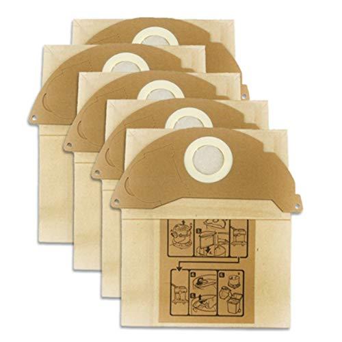 bobotron Juego de 5 bolsas de papel para aspiradora Karcher WD2250 A2004 A2054 MV2