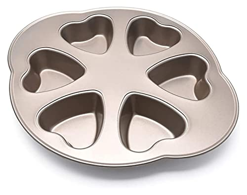 Storage Box Heart-shaped Cake Mold 6 Cups Non-stick Bakeware Homemade Diy Love Cake Oven Baking Tools