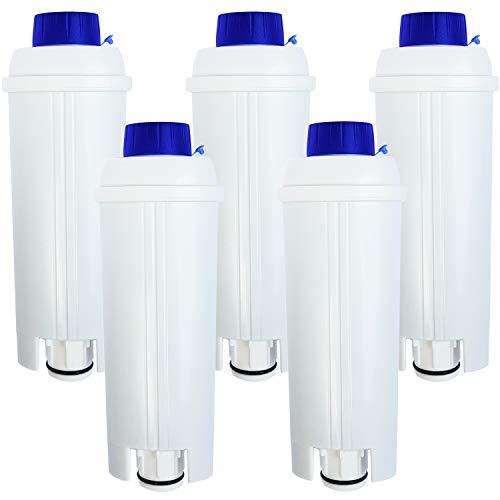5 x waterfilter compatibel met DeLonghi DLS C002 * koffiezetapparaten waterfilter filterpatronen, DLSC002, SER 3017, Caffe, Cappuccino Top | ECAM | EAM | ETAM | BCO | EC *
