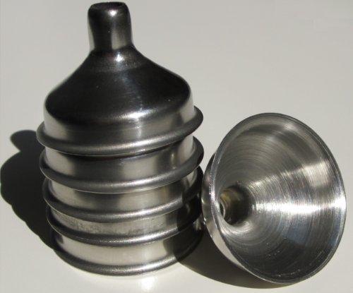 Roestvrij stalen mini-trechter voor etherische olieflessen/flacons - 6 stuks
