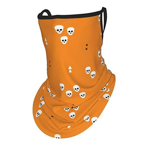 Colin-Design Calaveras geométricas Halloween terror pasamontañas cuello polainas headwear bufanda polvo protección solar oído perchas tubo máscara sin costuras