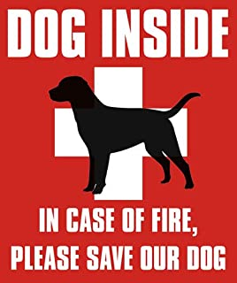 Dog Inside in Case of Fire Please Save Our Dog Sticker (Vinyl pet fire Safety)