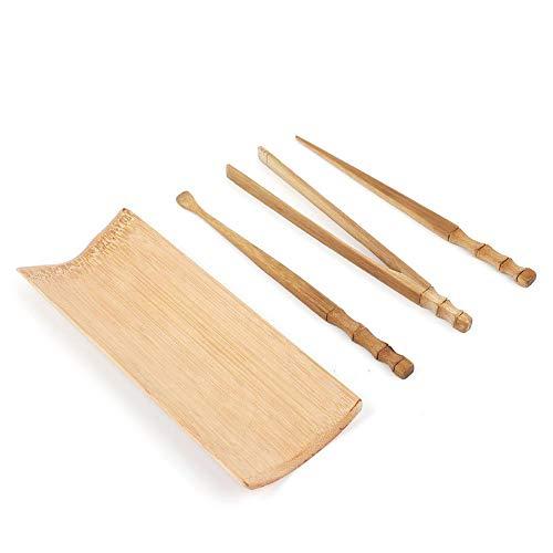 Fdit1 4 Stks Natuurlijke Bamboe Bamboe Thee Ceremonie Accessoires Zes Heren Theeset Accessoires Thee Thee Productie Thee Boot Vierdelig
