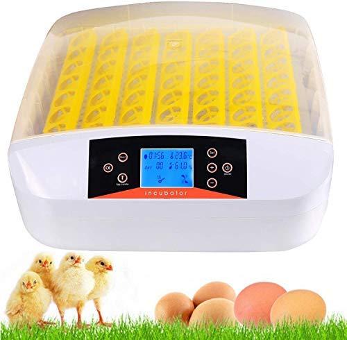 Incubadora Automática de 56 Huevos con Iluminación LED Pantalla Digital y Control Eficiente