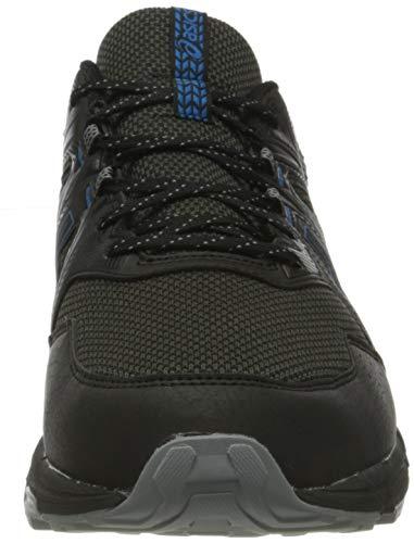 Asics Gel-Venture 8 Waterproof, Trail Running Shoe Hombre, Black/Reborn Blue, 44.5 EU
