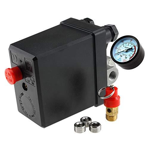 Create Idea Druckschalter DREI-Phase Druckschalter Kompressor 400V Ventil LuftDruckschalter Kompressor 400V Druck EIN/Aus-Knopf-Schalter Steuerventil Druckregler Druckschalter Druckschalter Kompressor 400Vschalter Schalter für Luft Druckschalter Kompressor 400V