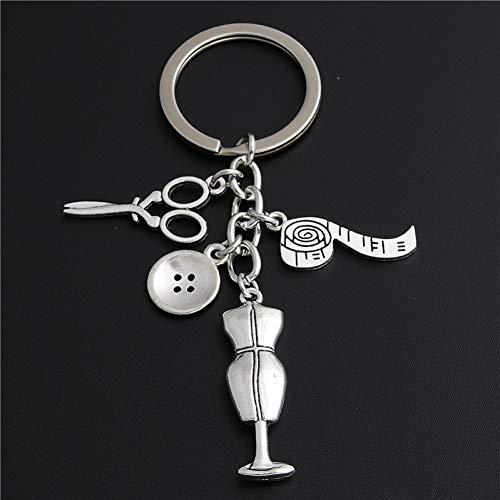 AGMKV Schlüsselbund Schlüsselanhänger Silber Schlüsselanhänger Schlüsselanhänger Nähen Anhänger Schmuck
