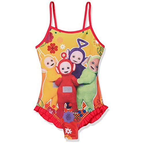 Teletubbies Teletubbie Costume da Bagno, Rosso, 4-5 Anni Bambina