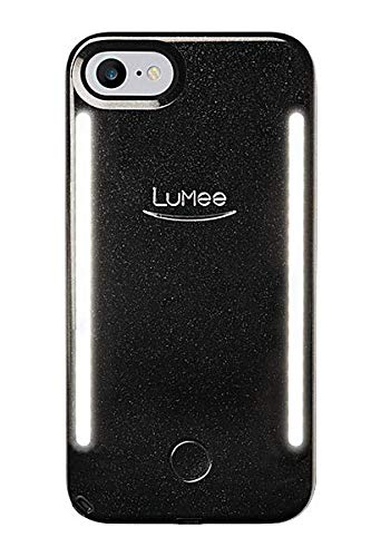 LuMee Duo Vibes Phone Case, Black Glitter | Sync to Music LED Lights |...