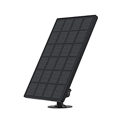 Conico Solar Panel for Rechargeable Battery Otudoor Camera,Waterproof Solar Panel with 13ft USB Cable, Continuously Power for Outdoor Security Camera