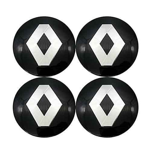 4 tapacubos para centro de rueda, adhesivos para tapacubos de 56/65 mm, compatibles con Renault Megane 2 3 Duster Logan Clio Laguna 2 Captur Car Accessories Centre Cover (Color: C)