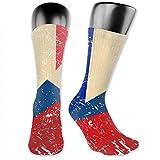 Hombres Mujeres Francia Y Checa Retro Bandera Calcetines Largos Novedad Medias Colorido Algodón Calcetines Bueno Para Regalo 30cm