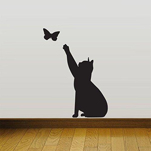 Wall4stickers Chat Contagieux Accueil Mur Autocollant Décor Décalcomanies Mural Cuisine Animal de...