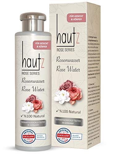 HAUTz Rosenwasser 100% Natürlich - Vegan, Bio - reinigendes & pflegendes Gesichtswasser, 200ml