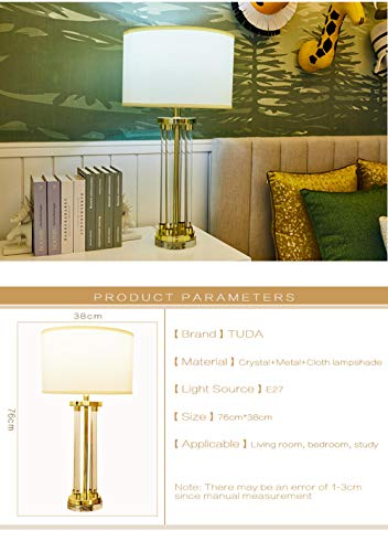Led ronde kristallen tafellamp slaapkamer gouden glas luxe bed licht woonkamer