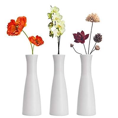 LINGMAI Tall Conic Composite Plastics Flower Vase, Small Bud Decorative Floral Vase Home Decor Centerpieces, Arranging Bouquets, Connected Tubes (Wide Caliber)