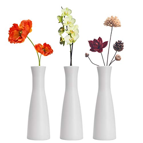 LINGMAI Tall Conic Composite Plastics Flower Vase, Small Bud Decorative Floral Vase Home Decor Centerpieces, Arranging Bouquets, Connected Tubes (Wide Caliber)