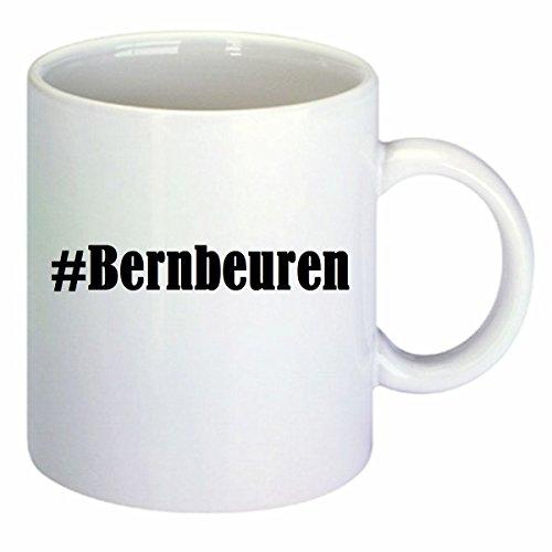 Kaffeetasse #Bernbeuren Hashtag Raute Keramik Höhe 9,5cm ? 8cm in Weiß