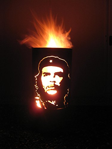 Tiko-Metalldesign Feuertonne, Feuerkorb, Feuerschale mit Motiv Che Guevara