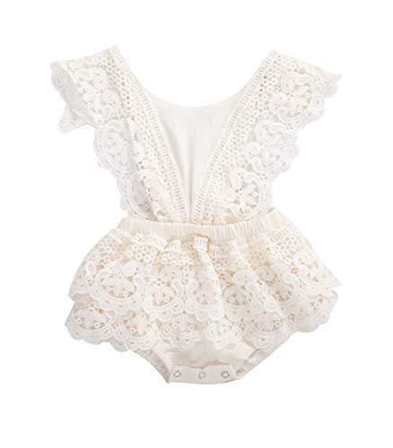 2Pcs Newborn Baby Girl Lace Ruffles…