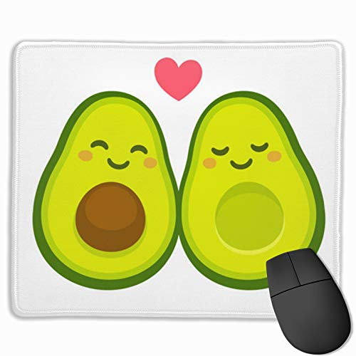 Cute Cartoon Avocado Couple Love Avocado Non Skid Mouse Pad Rectangular Rubber Game Mouse Pad 11.8 X 9.8 in