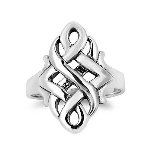AeraVida Infinity Celtic Love Knot .925 Sterling Silver Ring (9)