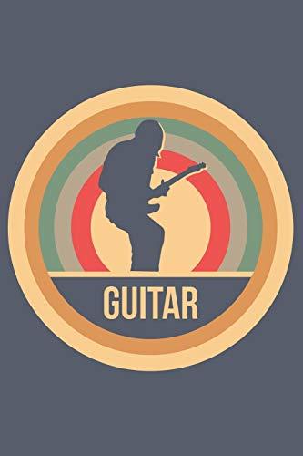 Guitar: Retro Vintage Gitarre Notizbuch A5 Liniert 108 Seiten Notizheft - Geschenk für Gitarristen