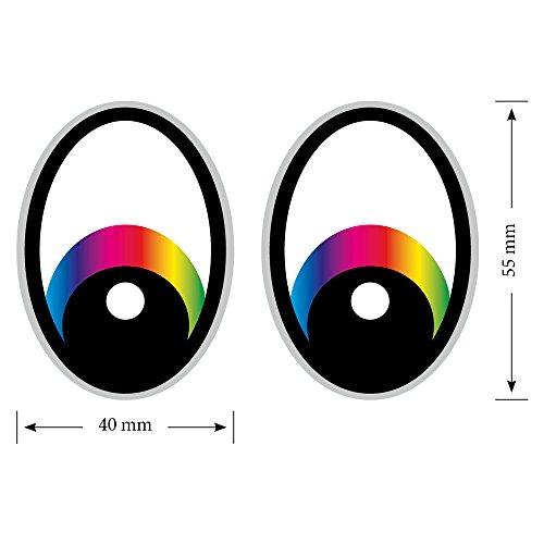 Eye Regenboogstofzuiger, stickers, robotmaaier, stickers, oogjes, stickers, robotmaaier, grijze grasmaaier