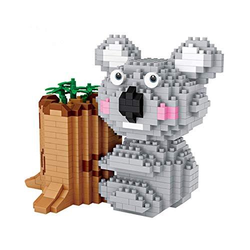 1yess Mini Koala Stifthalter Bausteine Haustier 700 Stück Micro Granule Ziegelsteine DIY Montieren Tiere 3D Puzzle Modell Für Kind und Erwachsene Pädagogische Spielzeug Geschenk 8bayfa