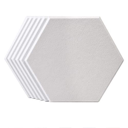 Deesen Paneles de InsonorizacióN Paneles AcúSticos AcúSticos Hexagonales para Tratamiento AcúStico, Baldosas de Borde Biselado para Aislamiento de Graves de Eco