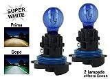 Carall Lot de 2 ampoules halogènes HP24W, 12V, 24W, éclairage ultra blanc, pour feux de circulation diurne