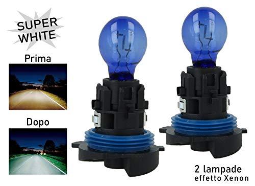 Carall - Juego de 2 bombillas halógenas HP24W, 12 V, 24 W Super White, luz de día