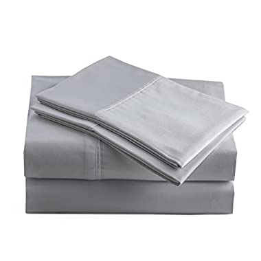 Peru Pima - Temperature Regulating Sheets - 600 Thread Count - 100% Peruvian Pima Cotton - Sateen - Bed Sheet Set - Queen, Slate