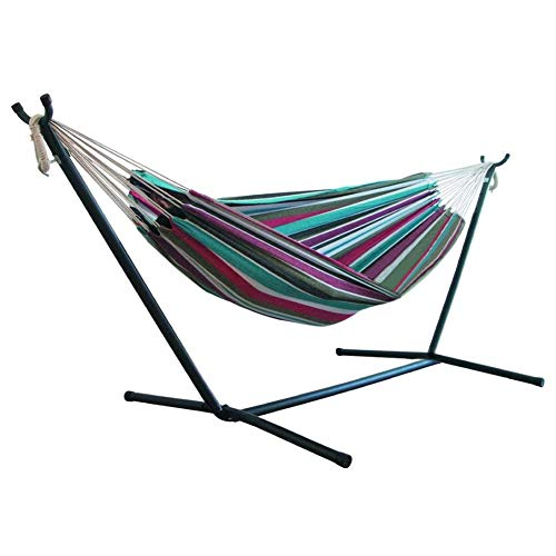 Pretty Comy Camping Hammock, Double Hammocks Portable Lightweight Single/Double Hammocks for Indoor, Outdoor, Backpacking, Travel, Beach, Hiking, Backyard 200x150cm(Without Hammock Stands)