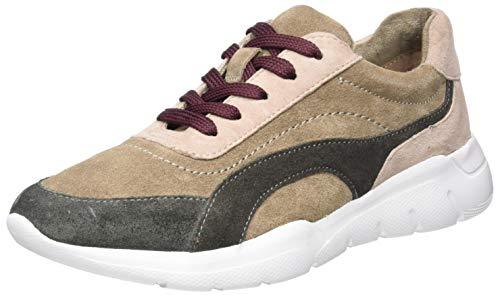 Jana 100% comfort Damen 8-8-23729-25 Sneaker, Taupe Comb, 44 EU