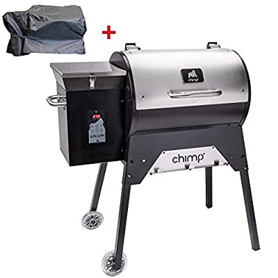 Grilla Grills - Chimp Tailgater Bundle | Multi Purpose Smoker and BBQ Wood Pellet Grill | Foldable Frame | Dual Mode PID Controller | Stainless Steel Construction | Up to 580 Sq. in Cooking Space