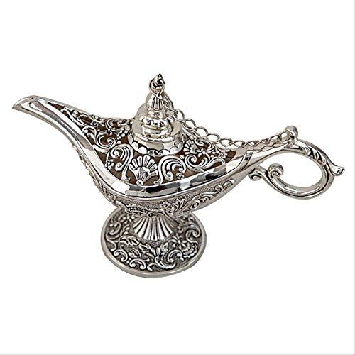 Lámpara de Dios Decoración Hueco Aladino Deseo Lámpara de Dios Artesanía de metal Adornos de mesa para el hogar